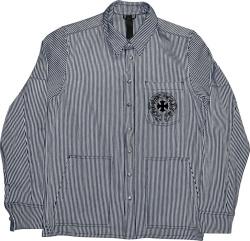 Chrome Hearts Black White Oversized Shirt Jacket