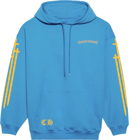 Chrome Hearts Blue And Yellow Miami Exclusive Hoodie
