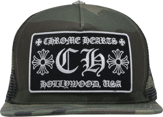 Chrome Hearts Camouflage Ch Patch Trucker Hat