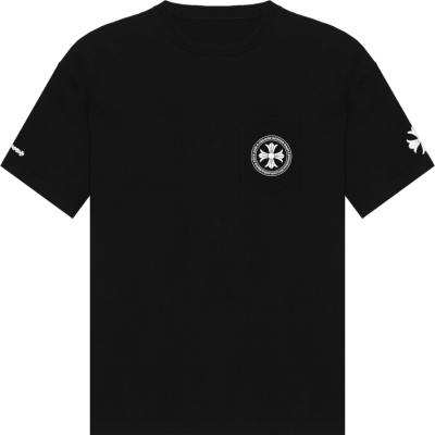 Chrome Hearts Circled Cross Logo Black T Shirt