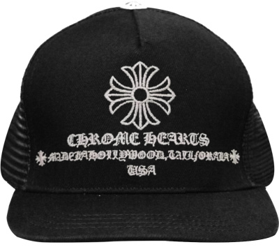 Chrome Hearts Cross And Hollywood Trucker Hat