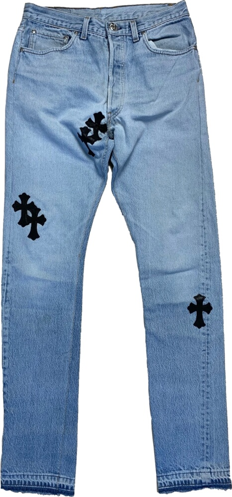Chrome Hearts Cross Patch Jeans