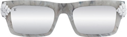 Chrome Hearts Grey Marble Square Sunglasses