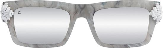 Chrome Hearts Grey Marble Square Sunglasses