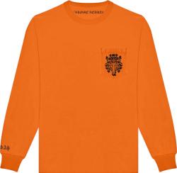 Chrome Hearts Orange Vine Dagger Long Sleeve T Shirt