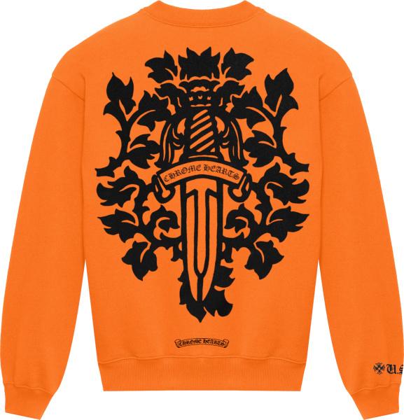 Chrome Hearts Orange Vine Dagger Sweatshirt