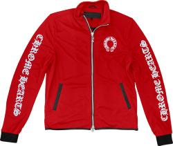 Chrome Hearts Red Logo Print Track Jacket