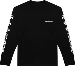 Chrome Hearts Sleeve Cross Print Black T Shirt