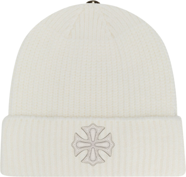 Chrome Hearts White Knit Beanie