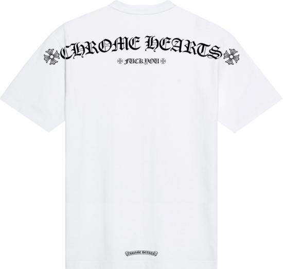 Chrome Hearts White Logo Fuck You T Shirt
