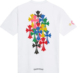 Chrome Hearts Whtie And Multicolor Cross T Shirt
