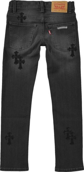 Chrome Hearts X Levis Black Cross Patch Jeans