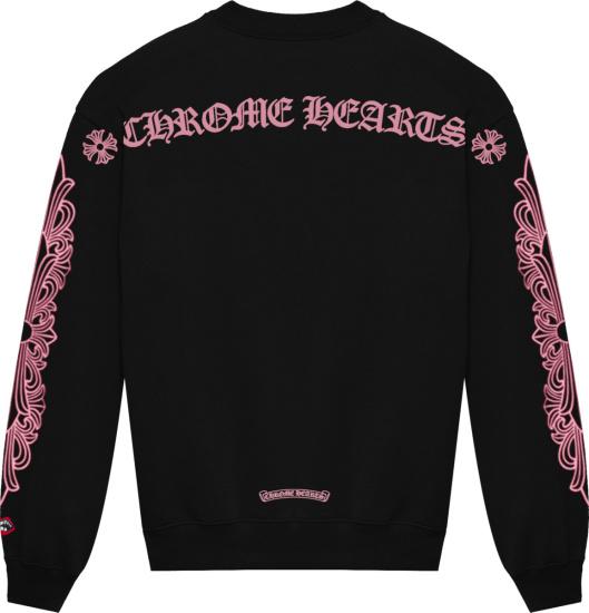 Chrome Hearts X Matty Boy Black And Pink Logo Sweatshirt