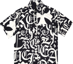 Chrome Hearts X Matty Boy Black And White Silk Shirt