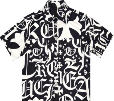 Chrome Hearts X Matty Boy Black And White Silk Shirt