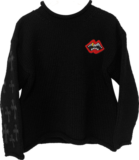 Chrome Hearts X Matty Boy Black Chomper Sweater