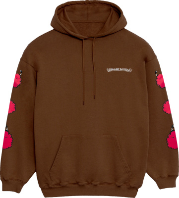 Chrome Hearts X Matty Boy Brown And Pink Hoodie