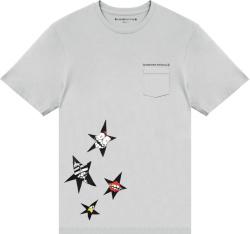Chrome Hearts X Matty Boy Grey Star Print T Shirt