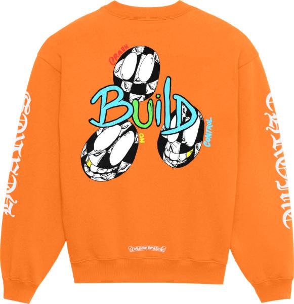 Chrome Hearts X Matty Boy Orange Link Sweatshirt