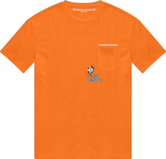 Chrome Hearts X Matty Boy Orange White Link Build T Shirt