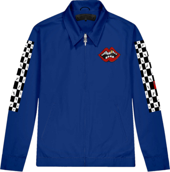 Chrome Hearts X Matty Boy Royal Blue Chomper Jacket