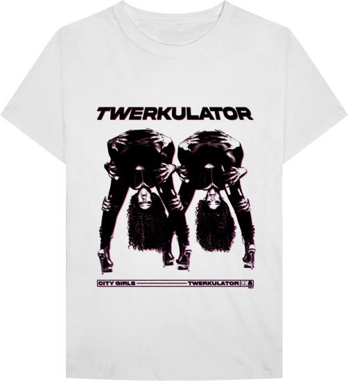 City Girls White Twerkulator Merch T Shirt