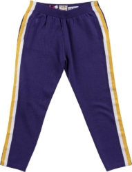Clot X Mitchell & Ness La Lakers Purple Knit Warm Up Pants