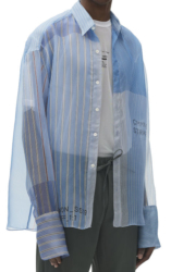 Cmmn Swdn Stripe Patch Sheer Shirt Worn By Khalid In His Free Spirit Music Video