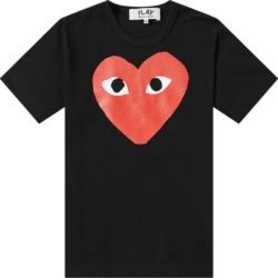 Comme Des Garcons Large Logo Print Black T Shirt