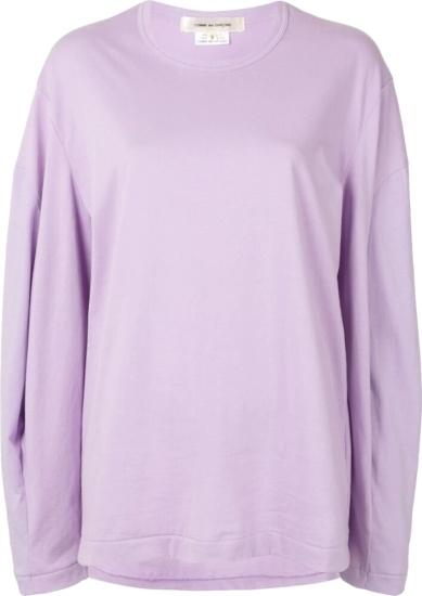 Comme Des Garcons Oversized Purple T Shirt