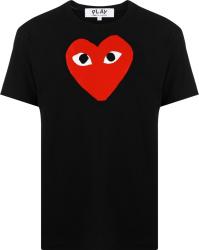 Comme Des Garcons Play Black T Shirt