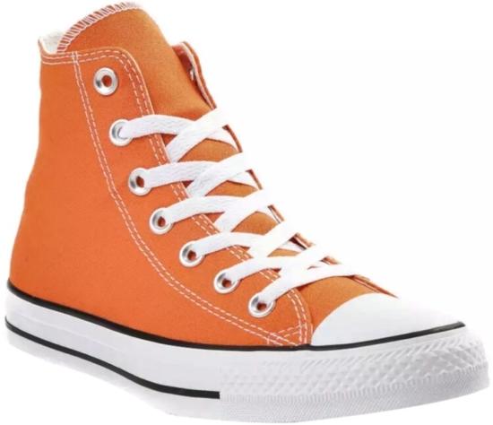 Converse Orange High Top Sneakers
