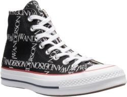 Converse X Jw Anderson Black Grid Sneakers