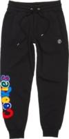 Multicolor Logo Patch Black Sweatpants