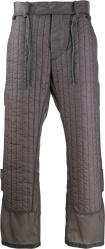 Craig Green Dark Grey Quilt Paneled Pants