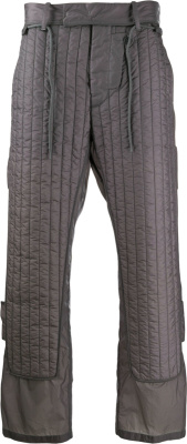 Craig Green Dark Grey Quilt Paneled Pants