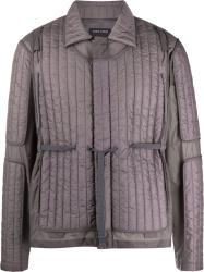 Craig Green Dark Grey Quilted Panel Jacket
