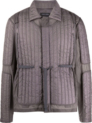 Craig Green Dark Grey Quilted Panel Jacket