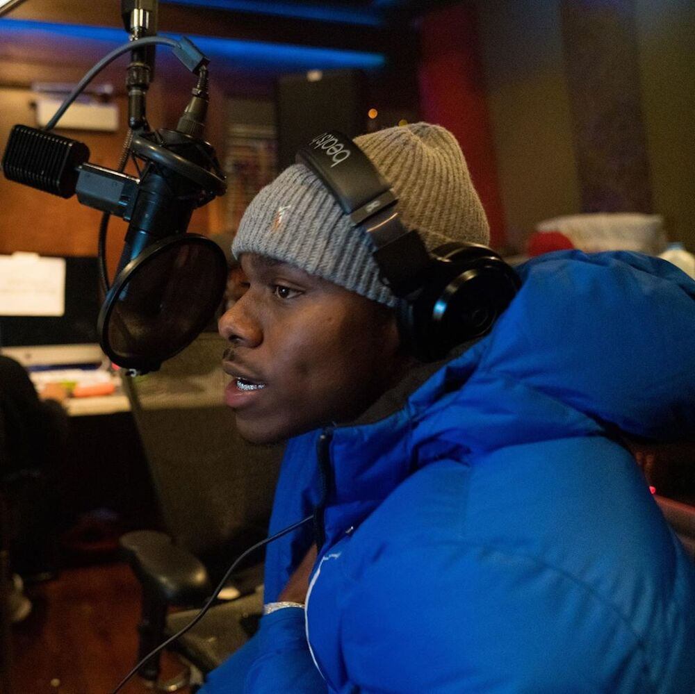 Dababy In The Studio With Migos Wearing A Polo Ralph Lauren Jacket And Hat