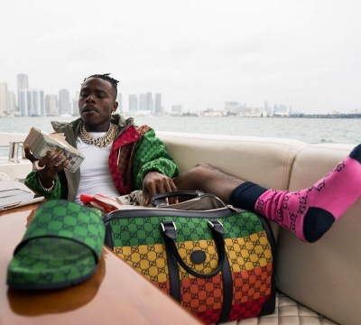 Dababy Wearing A Multicolored Canvas Gucci Outfit