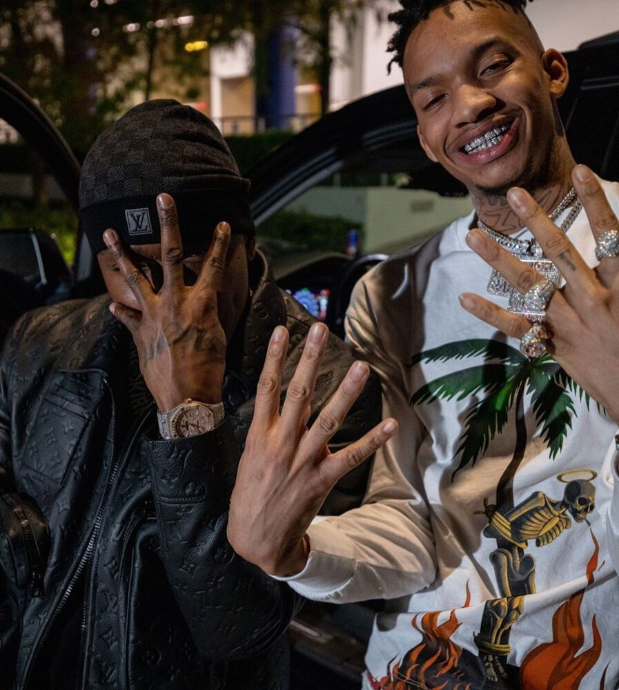 Dababy Wishes Stunna 4 Vegas A Happy Birthday In Louis Vuitton Hat And Leather Jacket