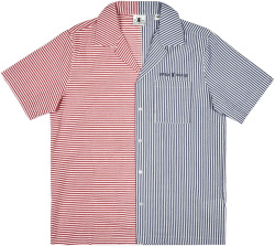 Daily Paper Red And Blue Searsucker Shirt