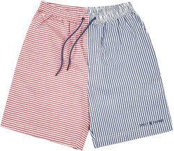 Daily Paper Red And Blue Searsucker Shorts