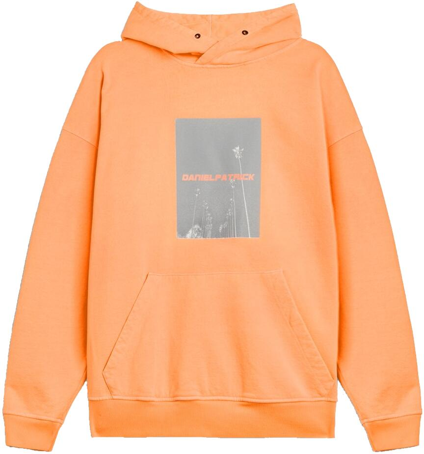 Daniel Patrick Orange Palm Tree Print Hoodie