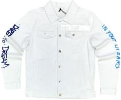 Dare To Dream White Denim Jacket