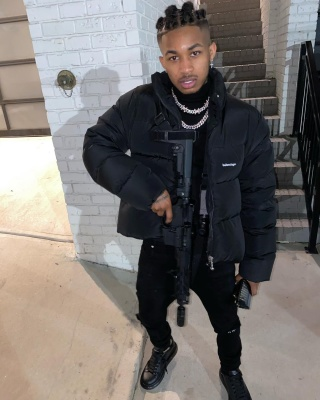 Ddg Matches His Tool In All Black Balenciaga Puffer Rta Denim And Mcqueen Sneakers Fit