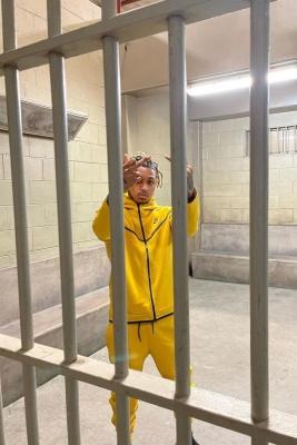 Ddg Wearing A Nike Yellow Tech Zip Hoodie Wna Yellow Tech Zip Joggers