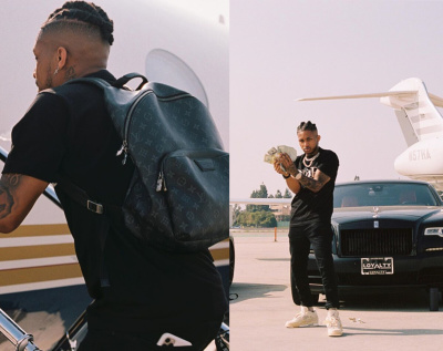 Ddg Wishes Himself A Happy Birthday In Ig In Louis Vuitton Backpack Dior Judy Blame Tee And Jordan X Off White Sneakers