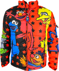 Dekryptic X Sesame Street Red Puffer Jacket