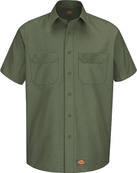 Dickies Olive Green Work Shirt
